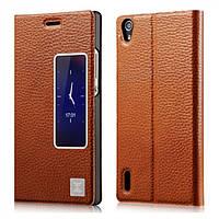 Чехол Xoomz для Huawei Ascend P7 Litchi Pattern Leather Brown (XHR7001 ) (3451)