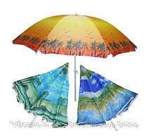 Пляжный зонт UMBRELLA palma 180 см с наклоном и напылением
