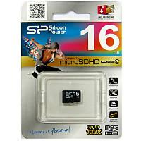 Карта памяти   micro-SDHC16Gb SiliconPower Class10 no box