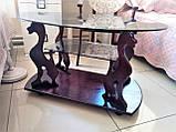 Журнальний столик багіра зі склом, фото 3
