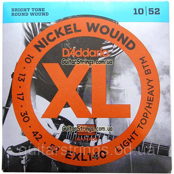 Струны D'Addario EXL140 Nickel Wound 10-52