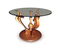Журнальный столик Лотос со стеклом, фото 1