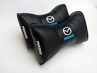 Подушка на подголовник Mazda черная