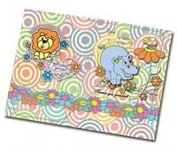 Папка на резинках для тетрадей 200*230 PP покрытие картон,Неунывающий бегемот