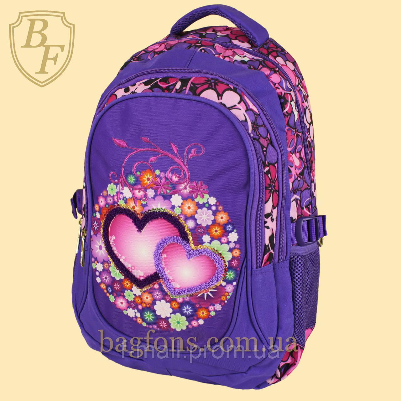 Школьный рюкзак  Edison  для девочки фиолетовый