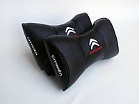 Подушка на подголовник Citroen черная
