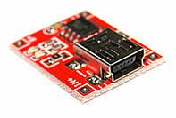 TP4056 модуль плата заряду літієвих LI-ION акумулятора 18650 - mini USB, фото 1