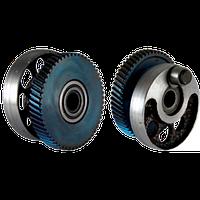 Шестерня-эксцентрик лобзика Фиолент 600.  9,3*49,5mm 56зуб право. Ось шатуна 10mm.