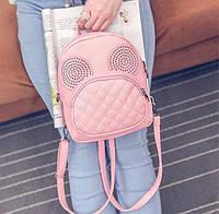"""Рюкзак-сумка мини женский городской """"Розовый с ушами Микки"""""""