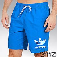 Модные синие шорты для пляжа адидас