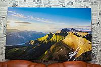 """Картина на холсте """"Горный хребет. Пейзаж. Природа"""". 50х80 см."""