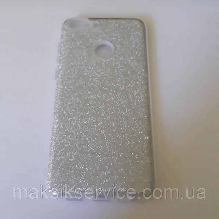 Накладка Shine HUAWEI P Smart серебро