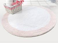 Коврик для ванной Irya - Tully beyaz-pembe розовый 90*90