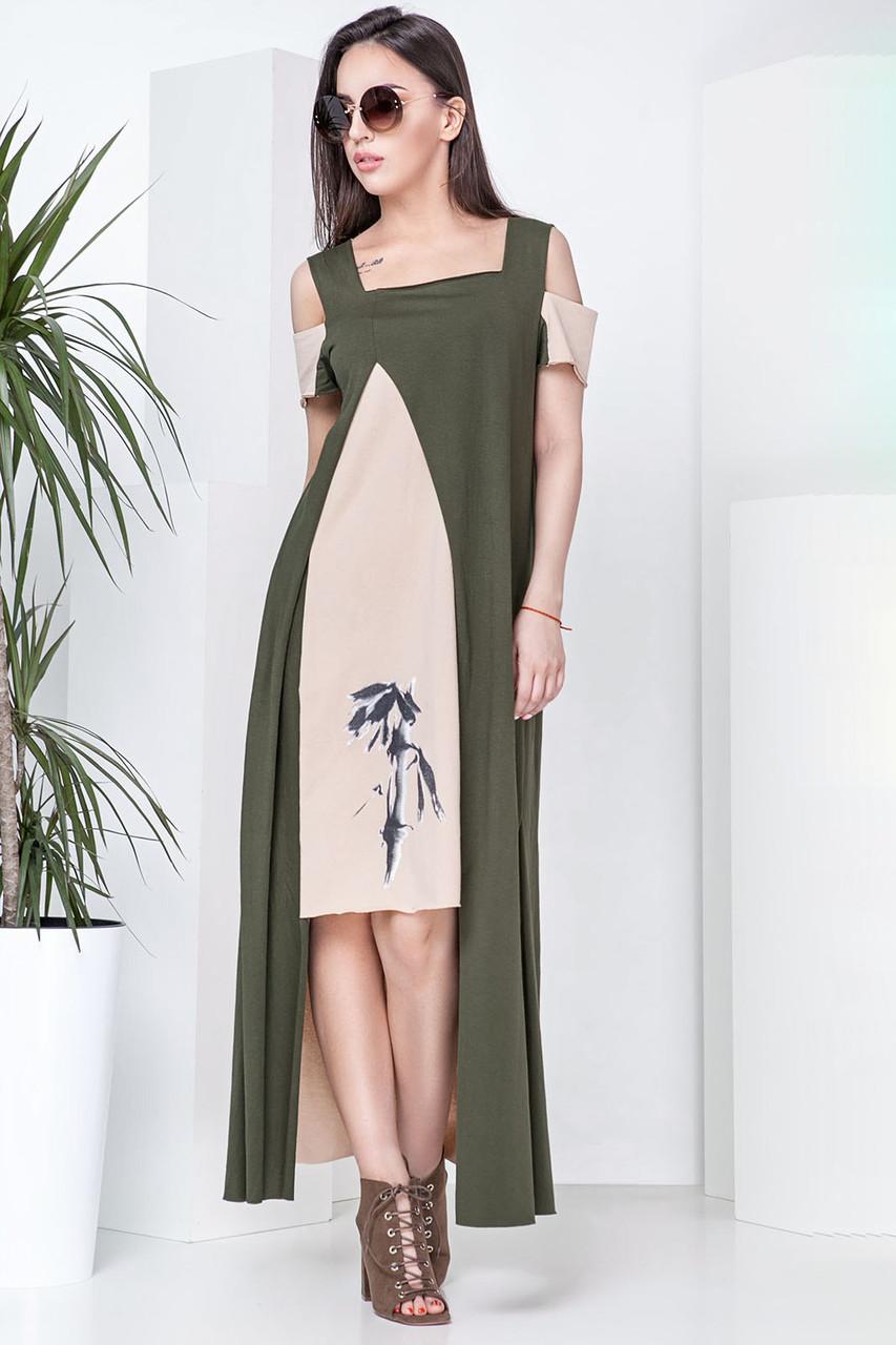 a0ec440a9a0993a Платье Бамбук, (4 цв), длинное платье, платье макси, летнее длинное ...