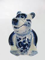 Медведь Потапыч синий (Гжель)