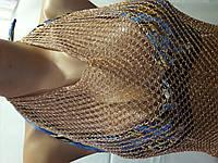 Пляжная туника-сарафан кольчуга