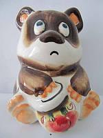 Винни-Пух с горшком цветной (Гжель)