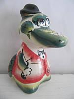 Крокодил Гена цветной (Гжель)