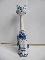Кот Кегля синий (Гжель)