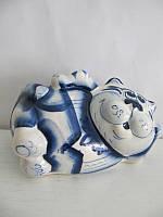 Кот Таити синий (Гжель)