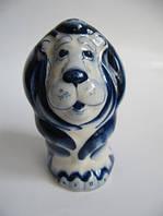 Лев синий  (Гжель)