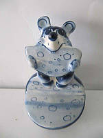 Мышка Арбуз синяя (Гжель)