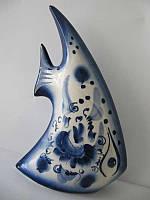 Рыба Парус большая синяя (Гжель)
