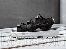 """Женские сандалии Fila Disruptor Sandals """"Black"""" (Фила Дисраптор) в стиле черные, фото 3"""