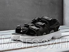 """Мужские сандалии Fila Disruptor Sandals """"Black"""" (Фила Дисраптор) в стиле черные, фото 3"""
