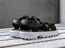"""Мужские сандалии Fila Disruptor Sandals """"Black"""" (Фила Дисраптор) в стиле черные, фото 2"""