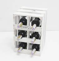 Мини-бар прованс ящик вертикальный на 6 бутылок БЕЛО-КОРИЧНЕВЫЙ, фото 1