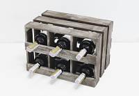 Мини-бар прованс ящик горизонтальный на 6 бутылок