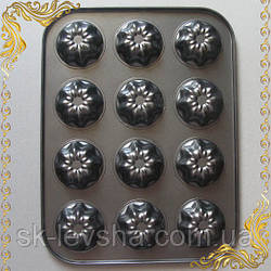 Форма для выпекания на 12 кексов, углеродистая сталь