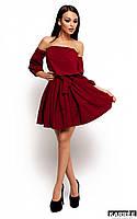 Платье с открытыми плечами и рукавом 3/4 Karree Шарлин марсала