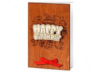 """Необычный сувенир - открытка ручной работы """"Happy Birthday/бант"""""""