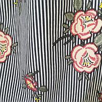 Рубашечная ткань принт, полоска