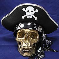 Бронзовый череп из скульптурного гипса, декоративный, в натуральную величину