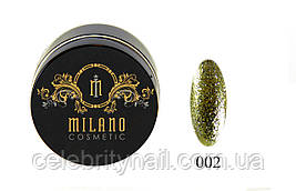 Глиттер-гель DIAMOND, 10G MILANO 002