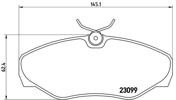 Capital c0020 тормозные колодки (передние) Nissan PRIMASTAR, Opel VIVARO