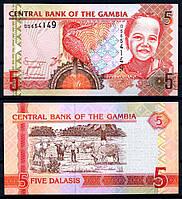 Gambia Гамбия - 5 Dalasis 2013 UNC Pick 25c