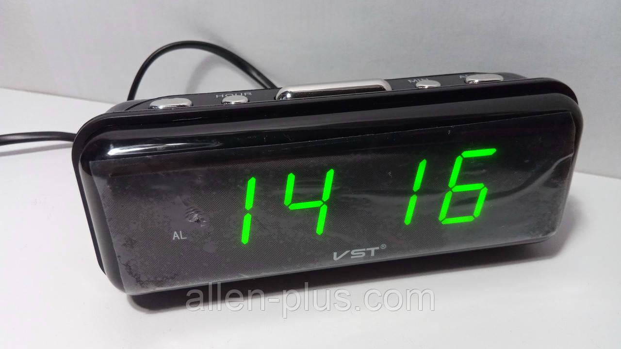 Годинник мережеві VST 738-4 салатовий