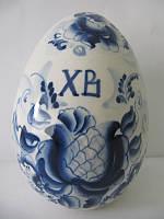 Яйцо большое синее (Гжель)