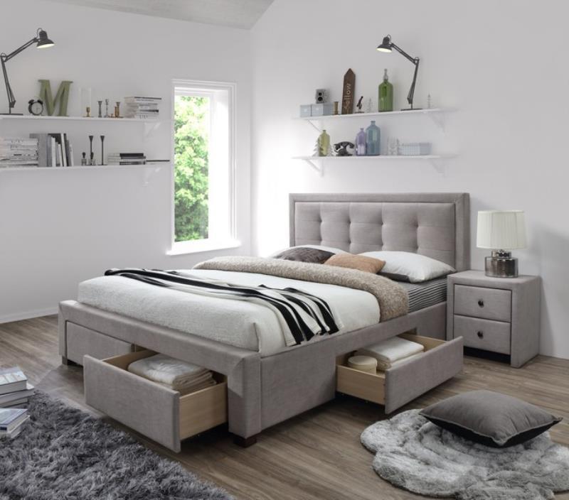 Двуспальная кровать Halmar EVORA 160