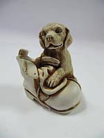 Собака в ботинке (Статуэтки Мраморная крошка)