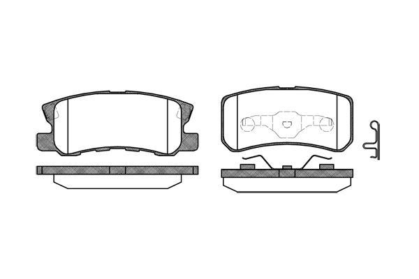 LPR 05P954 тормозные колодки (задние) MITSUBISHI ASX, MITSUBISHI PAJERO