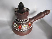Турка глиняная маленькая Вишня (Керамические турки)