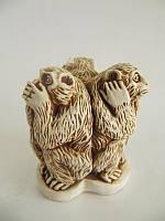 Три обезьяны (Статуэтки Мраморная крошка)