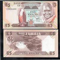Замбия / Zambia 5 Kwacha (1986-88) Pick 25d UNC