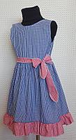 Летнее платье для девочки Ева р.104-122 синий+красный, фото 1