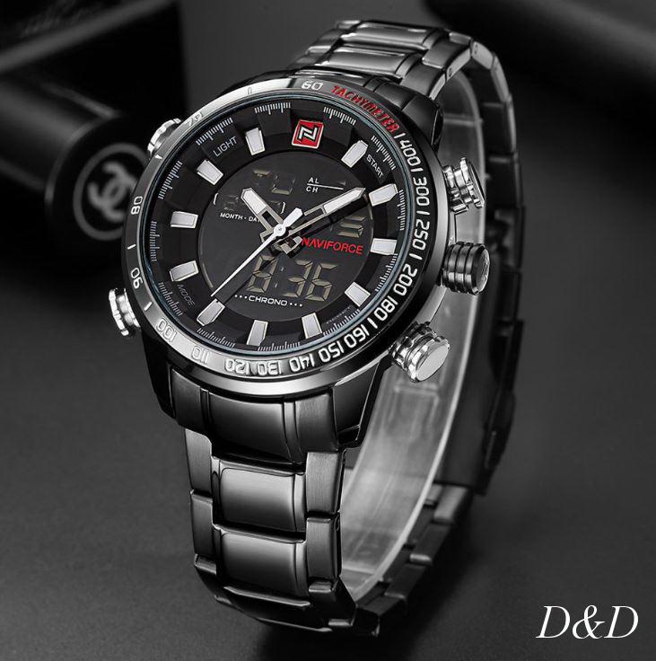 Часы мужские брендовые NAVIFORCE SAVONNA BLACK NF9093М